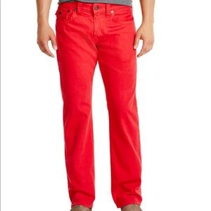 🎉True Religion Ricky Relaxed Fit Jeans Red 33